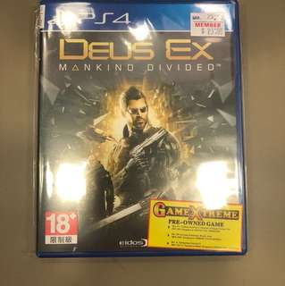 PS4 Deus Ex | Mankind Divided ( Preowned )