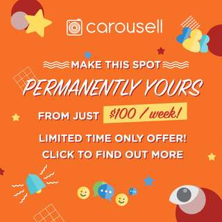 Make this spot permanently yours from just $100 / week!