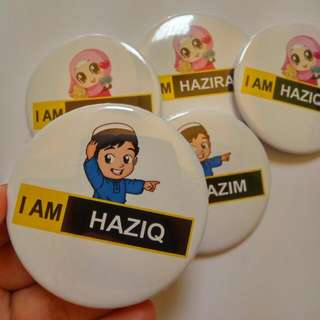 Custom Button Badge Murah