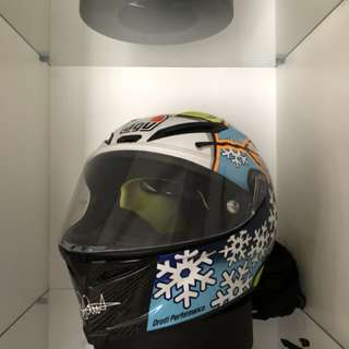 AGV Pista GP Winter Test Snowman Limited Edition