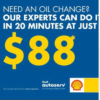 Shell Helix Express $88 Service Package!