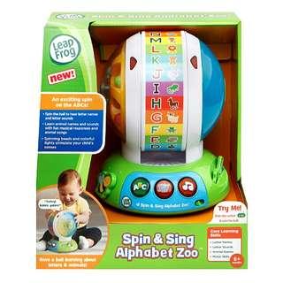 BNIB LeapFrog Spin & Sing Alphabet Zoo