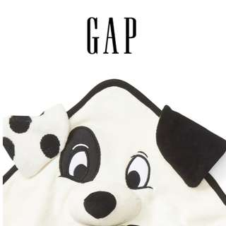 Disney迪士尼限量101忠狗動物點點嬰兒包巾連帽洗澡毛巾暖毯輕便毯圍巾