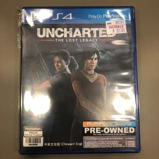 PS4 Uncharted   The lost legacy ( Preowned )
