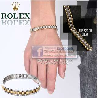Stainless Steel ROLEX Inspired Chain Link Bracelet