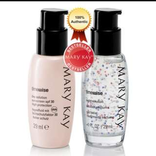 Mary kay timewise day solution suncreen spf 35 and night solution