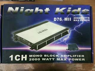 NightKids Audio D76.Mll mono block Amplifier 2000W