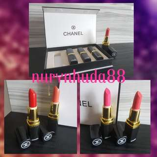 Chanel 4 in 1 Lipstick Set Instocks