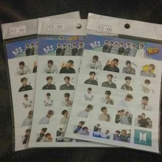 Yes Card Sticker BTS