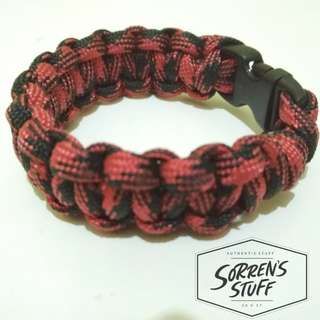 Gelang Paracord Outdoor Red&Black