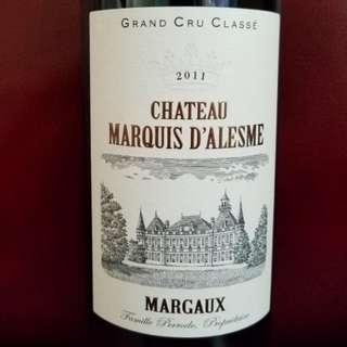法國紅酒chateua margaux2011