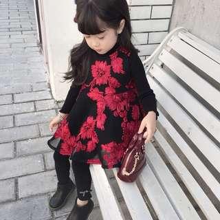 Korea style no sleeve fashion baby girl dress