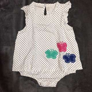 First Impressions Polka Dots Onesie 12mos