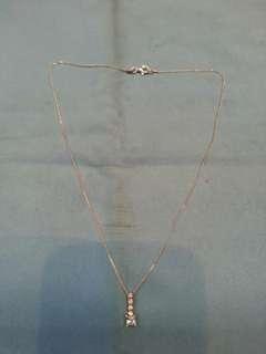 全新 意大利 闪石 925 純銀 16吋 頸鍊