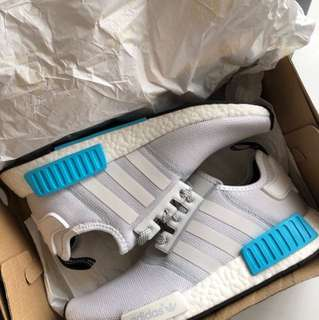 Ds cyan blue Nmd R1 with tags
