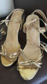 B CLUB Gold lace-up Shoes