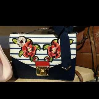 White Navy Bag