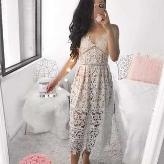 Showpo Day Delight Crochet Dress in White