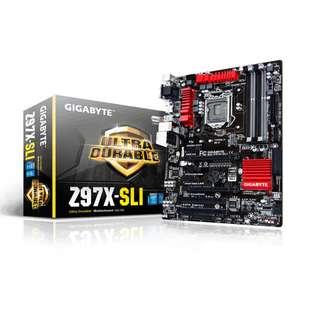 技嘉 GigaByte GA-Z97X-SLI  Socket 1150 \ USB 3.0 Mainboard