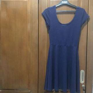 Susan Graver Navy Midi Dress