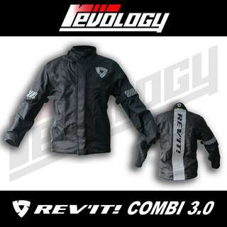 All NEW! COMBI 3 Rev'it Black Raincoat