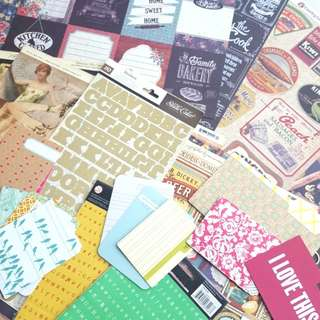 [Giveaway2 FOC] : Domestic Goddess / Cookbook related scrapbook papers