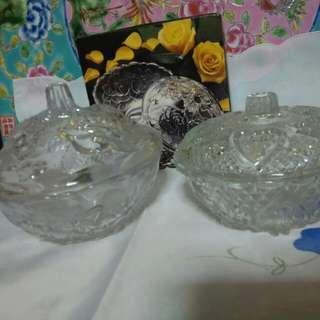 2 Glass Bowl With Cover