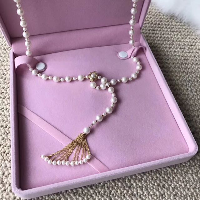 14k gold 8-9mm pearl necklace