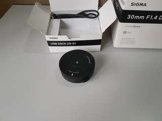 Sigma art 30mm f/1.4 for Nikon with USB dock