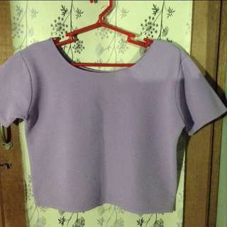 Textured Pastel Cropped Top