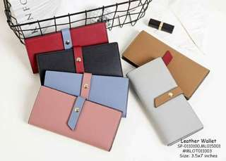 Leather wallet size : 3.5*7 inches