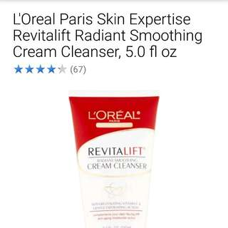 loreal revitalift facial cleanser