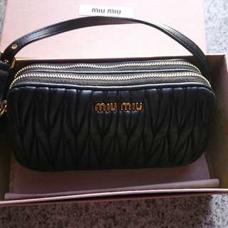 Authentic Miu Miu small real leather bag