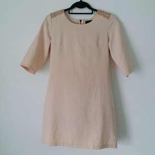 EZRA - Beige Sequence Dress