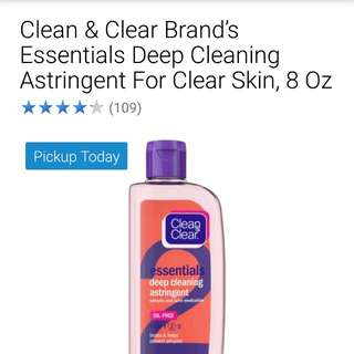 clean and clear astringent