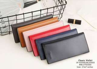 Classic wallet size : 3.5*7 inches