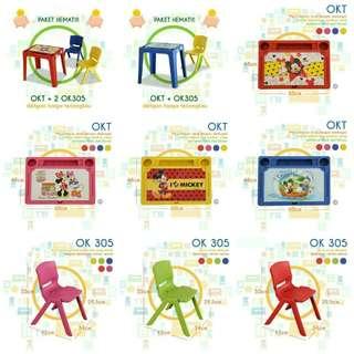 FREE ONGKIR!! Meja belajar anak set meja kursi anak