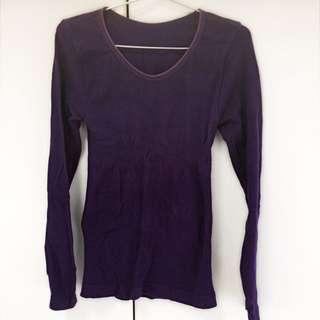 🚚 紫色長袖修身內衣