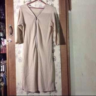 Nude Ribbed Dress 😍❤️