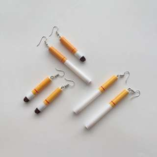 CIGARETTE DANGLE EARRINGS
