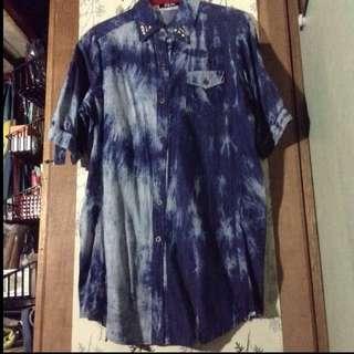 Riot Long Acid Wash Polo