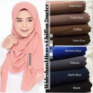 Heavy Chiffon Shawl (See other listings for more colours)