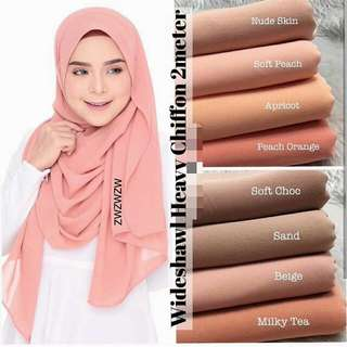 Heavy Chiffon Shawl (See other listing for other colours)