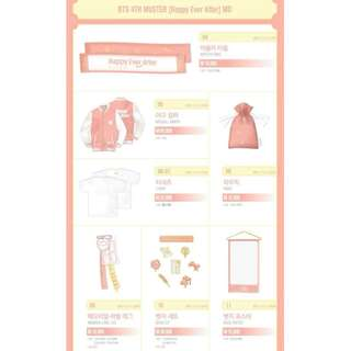 PREORDER BTS 4TH MUSTER MD