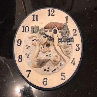 🚚 鴨時鐘 裝飾品 瓷製家居裝飾