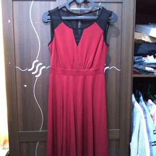 SALE !! Maroon Dress