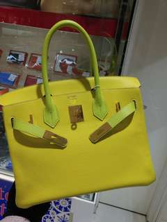 Hermes birkin 30 special order lime*apple green