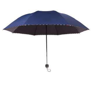 Travel Size RainProof & WindProof UV Umbrella (Dark Blue)