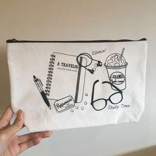 Makeup study bag/pencil case