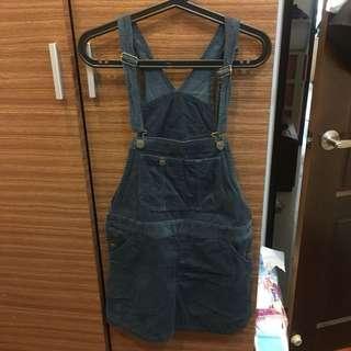 Lowrys farm 牛仔吊帶裙m